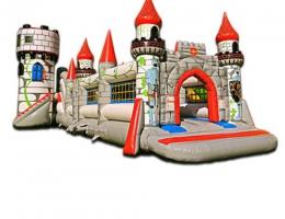Średniowieczny plac zabaw dmuchany malbork wraz z dmuchanym placem zabaw do hasania